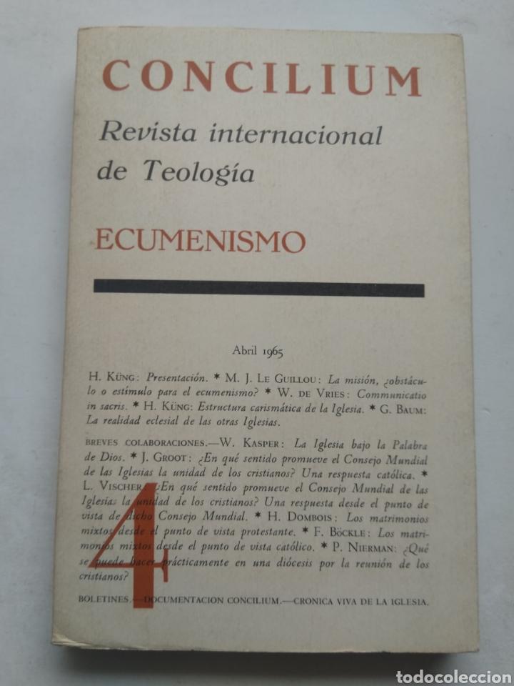 CONCILIUM ECUMENISMO 4/REVISTA INTERNACIONAL DE TEOLOGÍA (Libros de Segunda Mano - Religión)