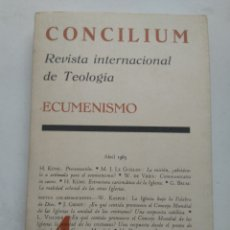 Libros de segunda mano: CONCILIUM ECUMENISMO 4/REVISTA INTERNACIONAL DE TEOLOGÍA. Lote 237020440