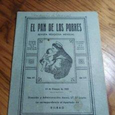 Libros de segunda mano: EL PAN DE LOS POBRES. REVISTA RELIGIOSA MENSUAL. BILBAO. 1952.. Lote 237025155