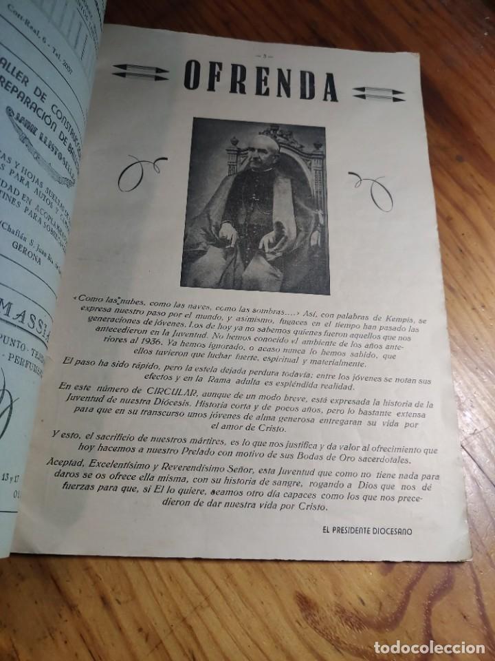 Libros de segunda mano: IRCULAR DEL CONSEJO DIOCESANO DE LOS JÓVENES DE ACCIÓN CATÓLICA Nº 71 - GERONA AÑO 1949 - Foto 3 - 237025250