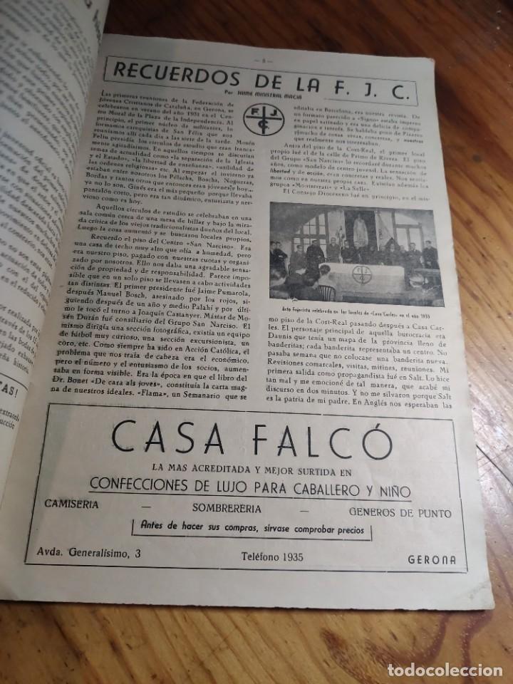 Libros de segunda mano: IRCULAR DEL CONSEJO DIOCESANO DE LOS JÓVENES DE ACCIÓN CATÓLICA Nº 71 - GERONA AÑO 1949 - Foto 5 - 237025250