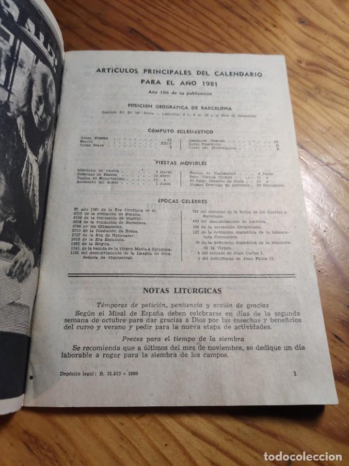 Libros de segunda mano: CALENDARIO - RELIGIOSO ASTRONOMICO Y LITERARIO - AÑO 1981 - Foto 2 - 237025390