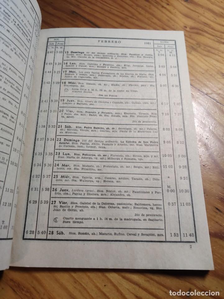 Libros de segunda mano: CALENDARIO - RELIGIOSO ASTRONOMICO Y LITERARIO - AÑO 1981 - Foto 3 - 237025390