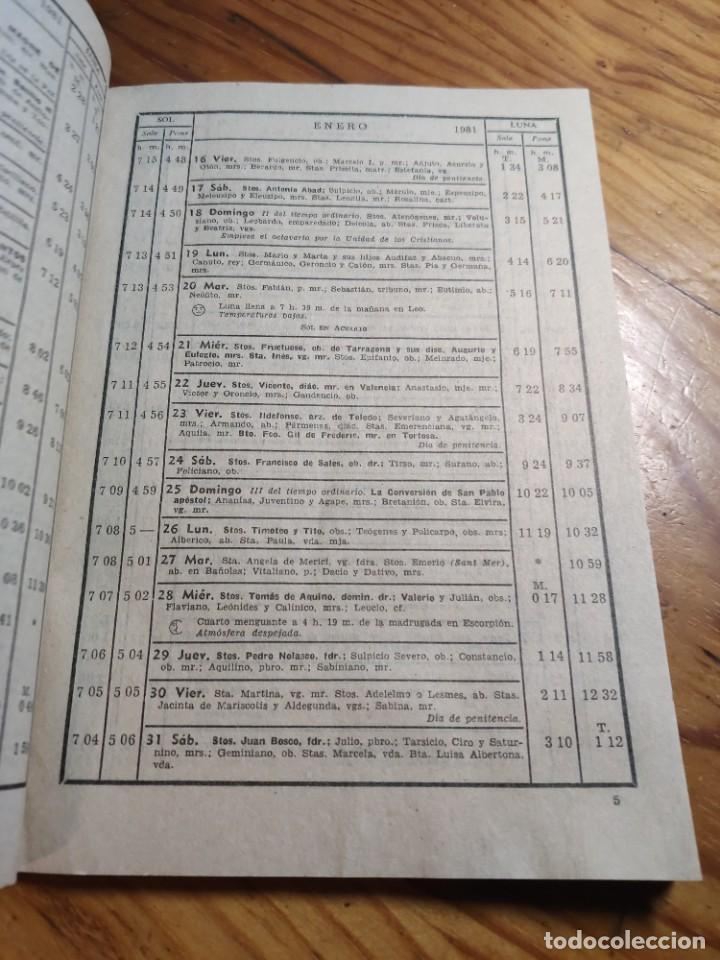 Libros de segunda mano: CALENDARIO - RELIGIOSO ASTRONOMICO Y LITERARIO - AÑO 1981 - Foto 4 - 237025390