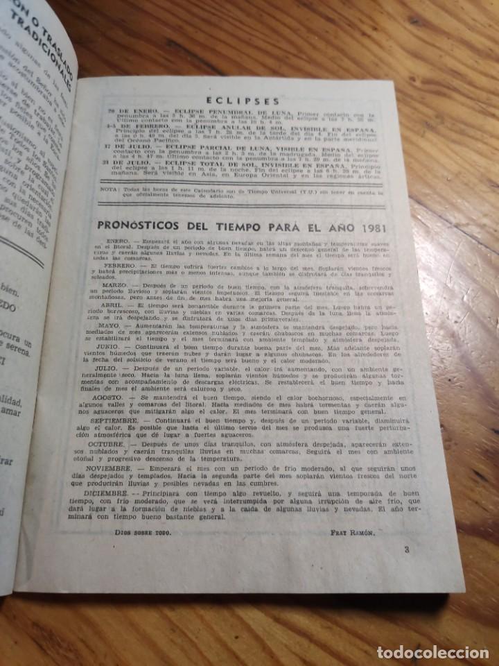 Libros de segunda mano: CALENDARIO - RELIGIOSO ASTRONOMICO Y LITERARIO - AÑO 1981 - Foto 5 - 237025390