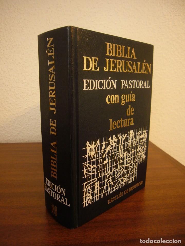 BIBLIA DE JERUSALÉN. EDICIÓN PASTORAL CON GUÍA DE LECTURA (DESCLÉE DE BROUWER, 1985) MUY BUEN ESTADO (Libros de Segunda Mano - Religión)