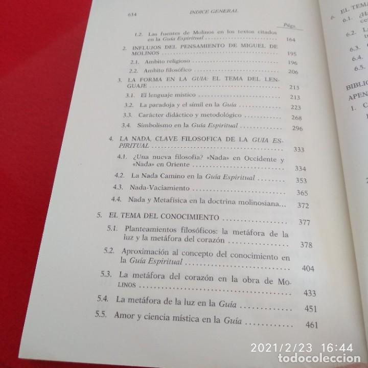 Libros de segunda mano: El pensamiento de Miguel de Molinos, de Pilar Moreno Domínguez, 1992, 635 páginas en rústica. - Foto 3 - 243607160