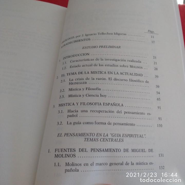 Libros de segunda mano: El pensamiento de Miguel de Molinos, de Pilar Moreno Domínguez, 1992, 635 páginas en rústica. - Foto 4 - 243607160