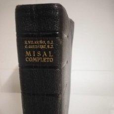 Libros de segunda mano: MISAL ROMANO COMPLETO EN LATIN Y CASTELLANO (CARLOS G. GOLDARAZ) 1948. Lote 243827850