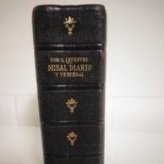 Libros de segunda mano: MISAL DIARIO Y VESPERAL (DOM. GASPAR LEFEBVRE) 1951. Lote 243829160