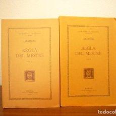 Libros de segunda mano: ANÒNIM: REGLA DEL MESTRE, I I II (FUND. BERNAT METGE, ESCRIPTORS CRISTIANS, 1994) INTONSOS. Lote 244882480
