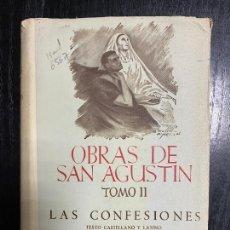 Libros de segunda mano: OBRAS DE SAN AGUSTÍN TM II LAS CONFESIONES,EN CASTELLANO Y LATINO, BIBLIOTECA DE AUTORES CRISTIANOS. Lote 245451820