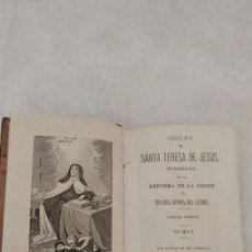 Libros de segunda mano: OBRAS DE SANTA TERESA DE JESUS. 3ª EDICION.TOMO I. AÑO 1887. PYMY 58. Lote 245601050