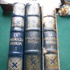 Libros de segunda mano: LA SAGRADA BIBLIA MONTANER Y SIMÓN S.A. 3 TOMOS. Lote 246134345