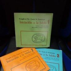 Libros de segunda mano: 3 LIBROS INICIACION A LA BIBLIA. (TOMOS I,II Y III) SERIE COMPLETA. Lote 246140940