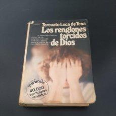 Libros de segunda mano: LOS RENGLONES TORCIDOS DE DIOS. Lote 295905498