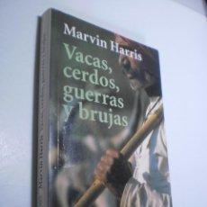 Livres d'occasion: VACAS, CERDOS, GUERRAS Y BRUJAS. MARVIN HARRIS. ALIANZA 2003 RÚSTICA 246 PÁG (ESTADO NORMAL, LEER). Lote 252799330