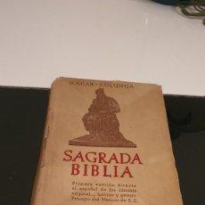 Libros de segunda mano: SAGRADA BIBLIA NACAR -COLUNGA. Lote 253285880