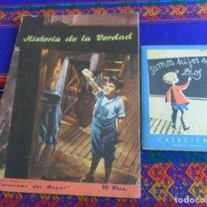 Libros de segunda mano: CATECISMO PRIMER GRADO SOMOS HIJOS DE DIOS Y HISTORIA DE LA VERDAD CON PABLITO CALVO.. Lote 254201820