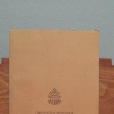 Libros de segunda mano: EXHORTACION APOSTOLICA - POSTSINODAL - PASTORES DABO VOBIS - DE SU SANTIDAD JUAN PABLO II. Lote 254394715
