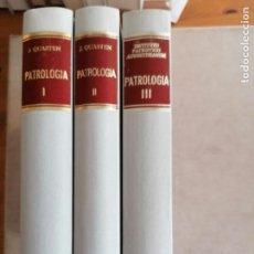 Libros de segunda mano: PATROLOGIA. QUASTEN E INSTITUTO AUGUSTINIANUM. BAC 3 VOL. 1981. Lote 254403695