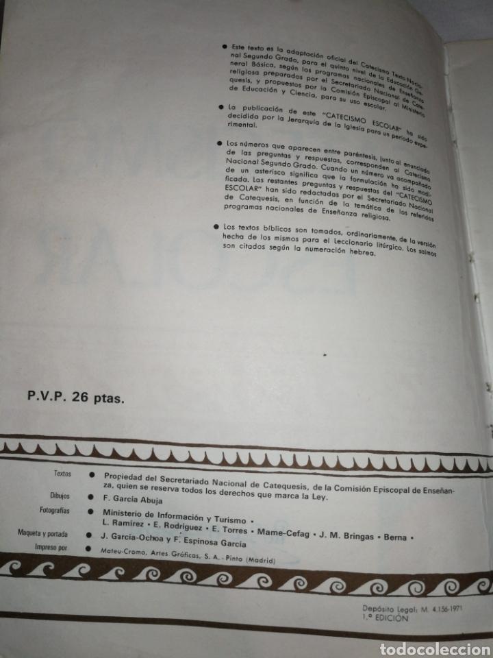 Libros de segunda mano: AÑO 1971,CATECISMO ESCOLAR, 1°EDICIÓN. - Foto 3 - 257743815