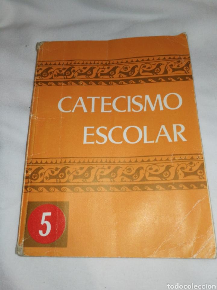 AÑO 1971,CATECISMO ESCOLAR, 1°EDICIÓN. (Libros de Segunda Mano - Religión)