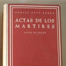 Livros em segunda mão: ACTAS DE LOS MARTIRES - BIBLIOTECA DE AUTORES CRISTIANOS. Lote 259245920