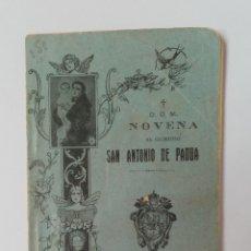 Libros de segunda mano: NOVENA AL GLORIOSO SAN ANTONIO DE PADUA 1928. Lote 262389825