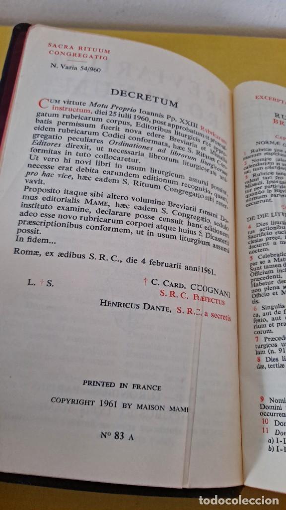 Libros de segunda mano: BREVIARIUM ROMANUM - TOMUS ALTER 1961- PRINTED IN FRANCE - Foto 3 - 262494225
