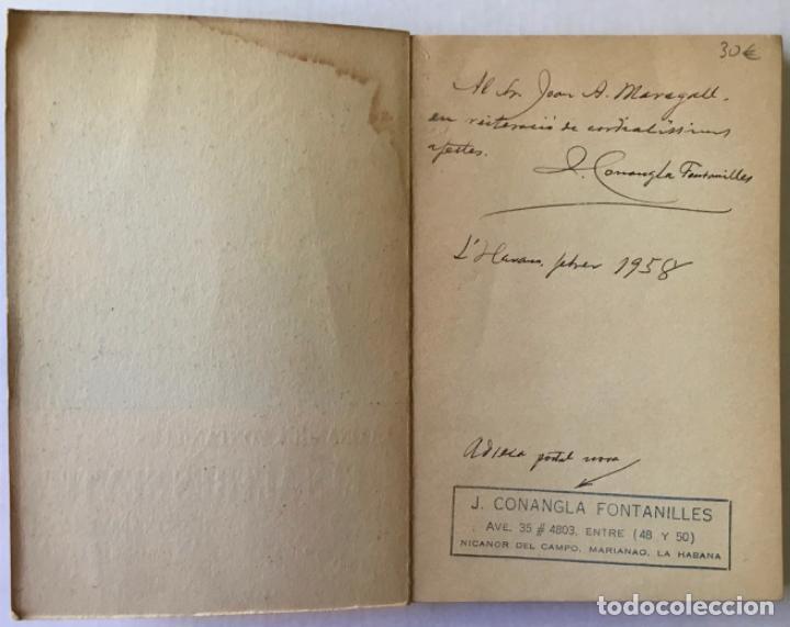 Libros de segunda mano: ELS ALTRES SENTITS. Ressonàncies del cant espiritual de Maragall. -CONANGLA FONTANILLES, J. DEDICADO - Foto 3 - 123177431