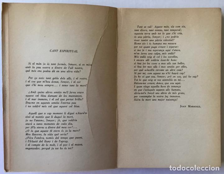 Libros de segunda mano: ELS ALTRES SENTITS. Ressonàncies del cant espiritual de Maragall. -CONANGLA FONTANILLES, J. DEDICADO - Foto 4 - 123177431