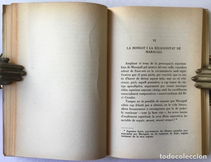 Libros de segunda mano: ELS ALTRES SENTITS. Ressonàncies del cant espiritual de Maragall. -CONANGLA FONTANILLES, J. DEDICADO - Foto 6 - 123177431