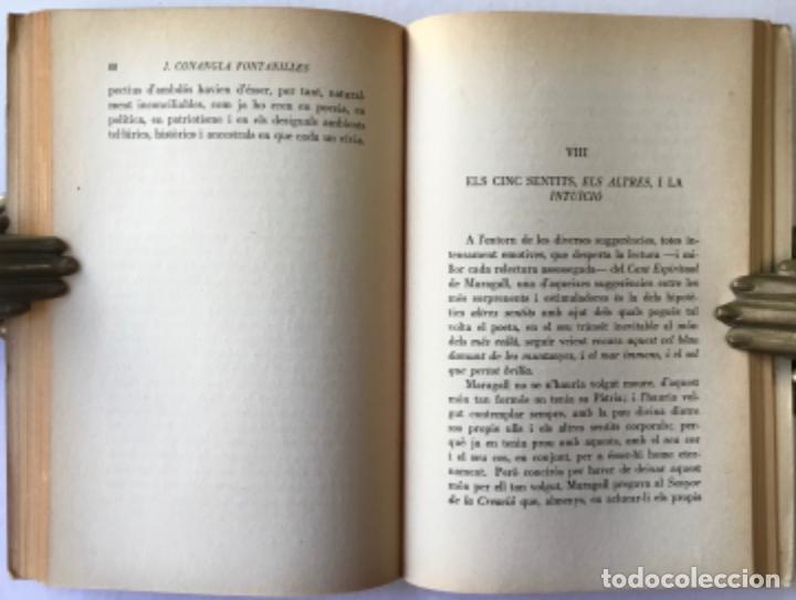 Libros de segunda mano: ELS ALTRES SENTITS. Ressonàncies del cant espiritual de Maragall. -CONANGLA FONTANILLES, J. DEDICADO - Foto 7 - 123177431
