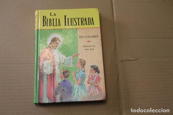 LA BIBLIA ILUSTRADA EN COLORES, EDICIÓN SAN JOSÉ , AÑO 1982 (Libros de Segunda Mano - Religión)