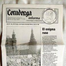 Libros de segunda mano: COVADONGA INFORMA, NÚM. 206, JUNIO 1996.. Lote 262892450