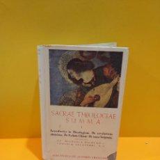 Livros em segunda mão: RELIGIÓN...ANTIGUO LIBRO...SACRAE THEOLOGIAE SUMMA.. I... ..B.A.C...1950.... Lote 265449179