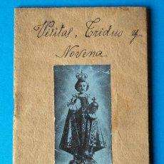 Libros de segunda mano: LIBRITO RELIGIOSO. VISITAS TRIDUO Y NOVENA AL MILAGROSO JESÚS DE PRAGA. BURGOS. 1932. Lote 267879804