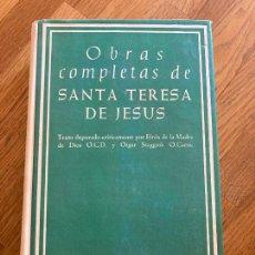 Livros em segunda mão: OBRAS COMPLETAS SANTA TERESA DE JESUS - BAC - 1962 - TAPA DURA Y SOBRECUBIERTA. Lote 268268674