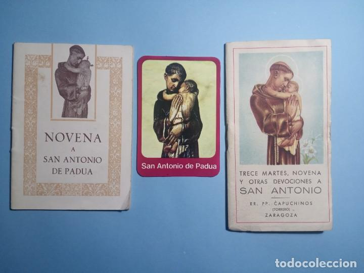 SAN ANTONIO DE PADUA NOVENA, DEVOCIONES Y ESTAMPITA (Libros de Segunda Mano - Religión)