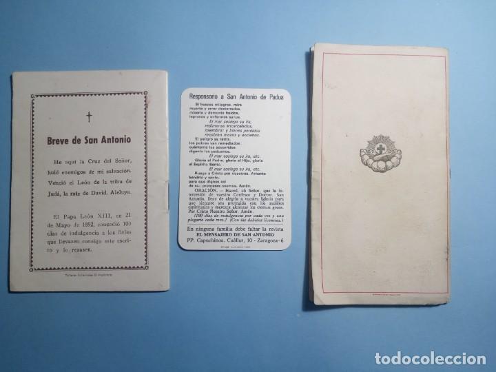 Libros de segunda mano: SAN ANTONIO DE PADUA novena, devociones y estampita - Foto 2 - 268894669