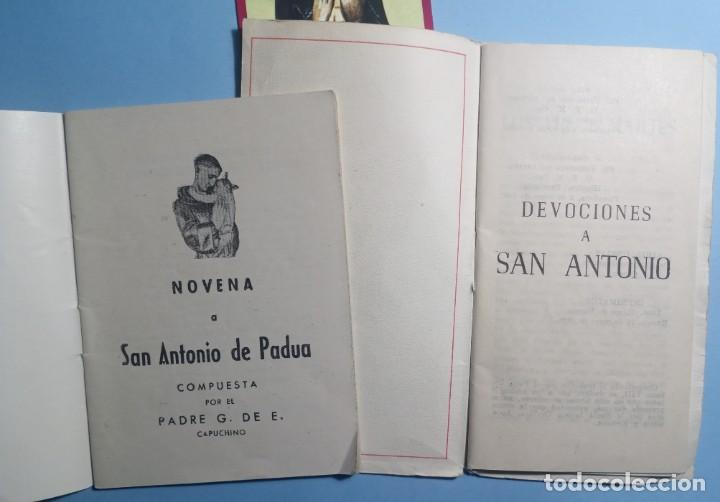Libros de segunda mano: SAN ANTONIO DE PADUA novena, devociones y estampita - Foto 3 - 268894669
