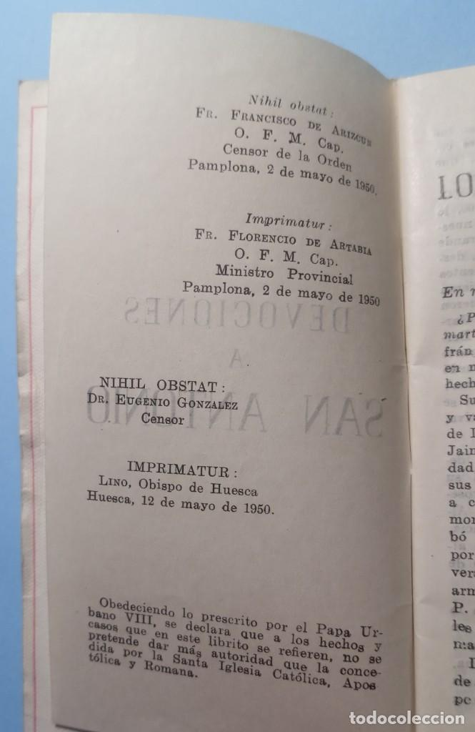 Libros de segunda mano: SAN ANTONIO DE PADUA novena, devociones y estampita - Foto 5 - 268894669