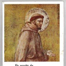 Libros de segunda mano: ELS ESCRITS DE SANT FRANCESC D'ASSIS I DE SANTA CLARA - CATALÀ. Lote 269362523
