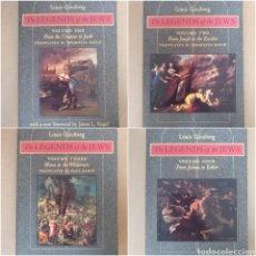 Libros de segunda mano: THE LEGENDS OF THE JEWS VOLUME 1, 2, 3, 4. LOUIS GINZBERG. THE JOHNS HOPKINS UNIVERSITY. BOOK LIBRO. Lote 269745478