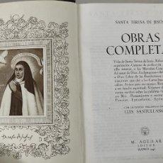 Libros de segunda mano: OBRAS COMPLETAS - SANTA TERESA DE JESÚS - EDITORIAL AGUILAR - AÑO 1942. Lote 270674113