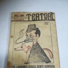 Libros de segunda mano: BIBLIOTECA TEATRAL. LOS LADRONES SOMOS GENTE HONRADA. ENRIQUE JARDIEL PONCELA.. Lote 272858308