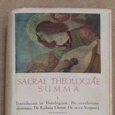Libros de segunda mano: SACRAE THEOLOGIAE SUMMA I. BIBLIOTECA DE AUTORES CRISTIANOS. 1958.. Lote 274399208
