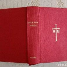 Libros de segunda mano: SAGRADA BIBLIA. PUBLICADO POR LA EDITORIAL HERDER 1963, CON 1.450 PÁGINAS. TAPAS DURAS. Lote 274709768