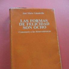 Livros em segunda mão: LAS FORMAS DE FELICIDAD SON OCHO. CABODEVILLA, JOSÉ MARÍA. BAC BIBLIOTECA AUTORES CRISTIANOS 1984. Lote 275190963